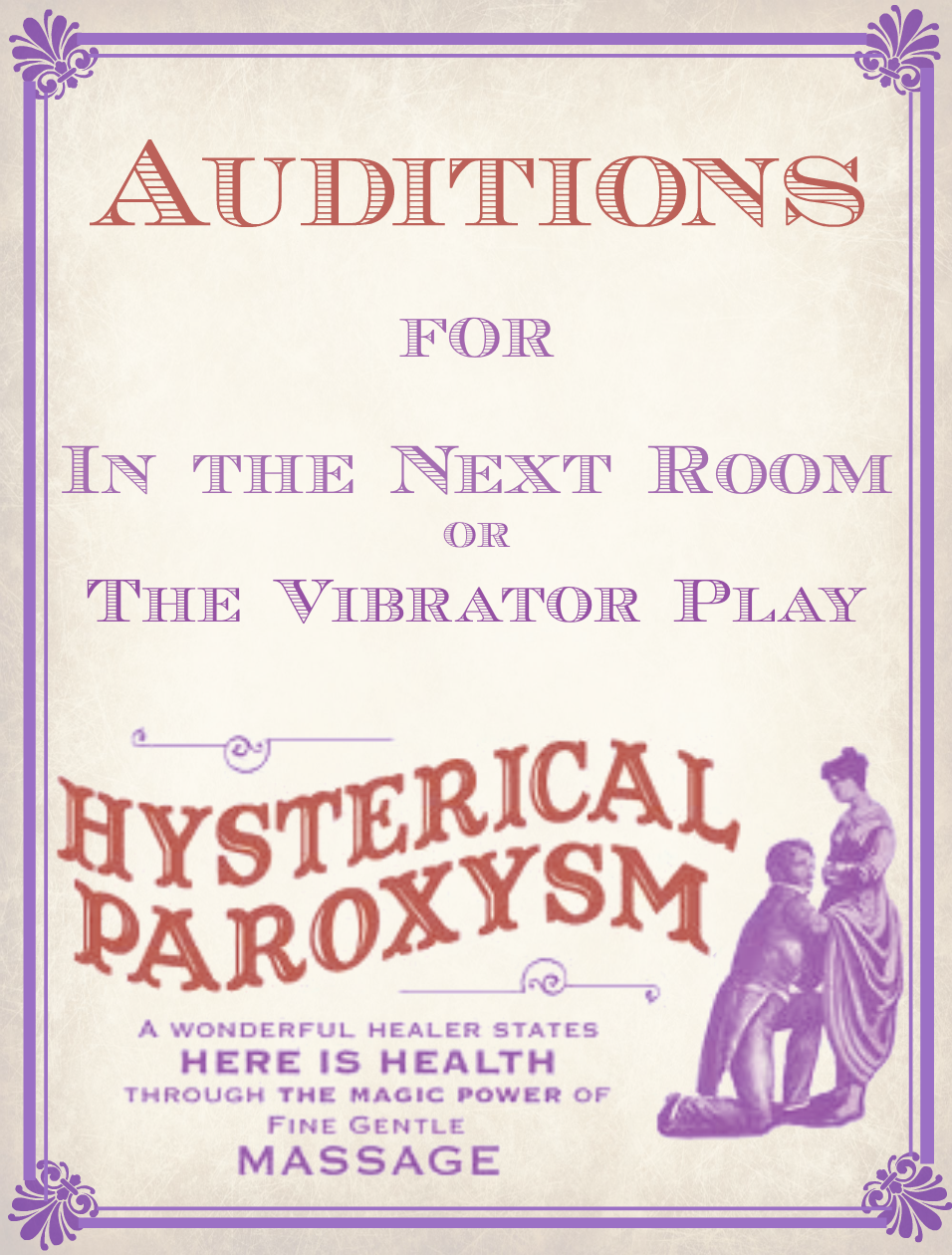 Auditions for In The Next Room