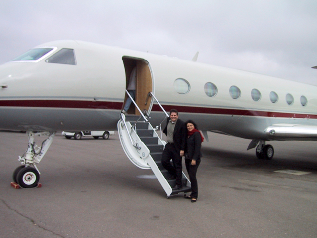 Robyn takes the gang on vacation invitation only for Gulfstream v bedroom